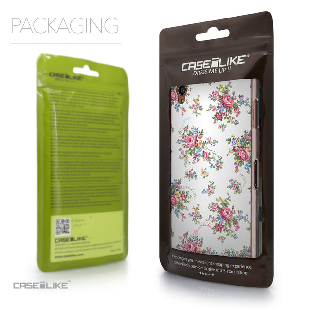 Packaging - CASEiLIKE Sony Xperia Z3 back cover Floral Rose Classic 2260