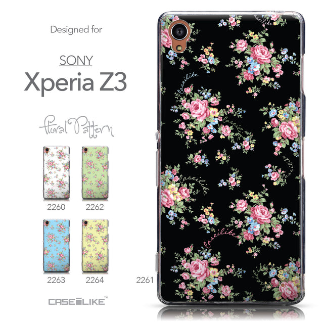 Collection - CASEiLIKE Sony Xperia Z3 back cover Floral Rose Classic 2261