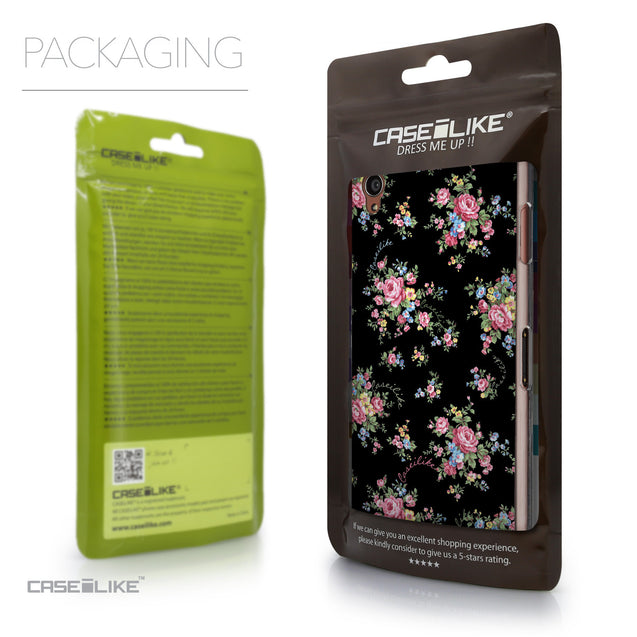 Packaging - CASEiLIKE Sony Xperia Z3 back cover Floral Rose Classic 2261