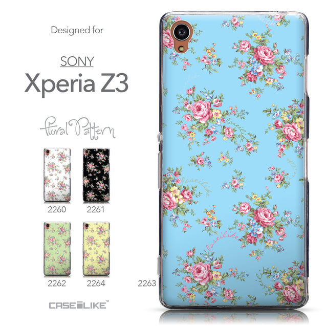 Collection - CASEiLIKE Sony Xperia Z3 back cover Floral Rose Classic 2263