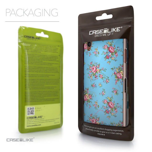Packaging - CASEiLIKE Sony Xperia Z3 back cover Floral Rose Classic 2263