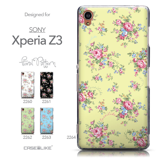 Collection - CASEiLIKE Sony Xperia Z3 back cover Floral Rose Classic 2264