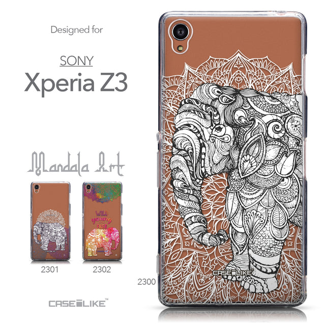 Collection - CASEiLIKE Sony Xperia Z3 back cover Mandala Art 2300