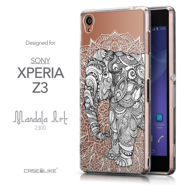 Front & Side View - CASEiLIKE Sony Xperia Z3 back cover Mandala Art 2300