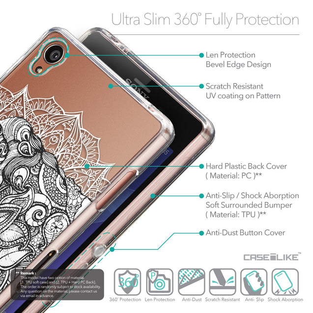 Details in English - CASEiLIKE Sony Xperia Z3 back cover Mandala Art 2300