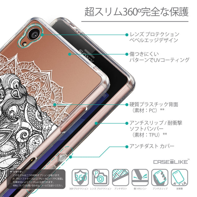 Details in Japanese - CASEiLIKE Sony Xperia Z3 back cover Mandala Art 2300