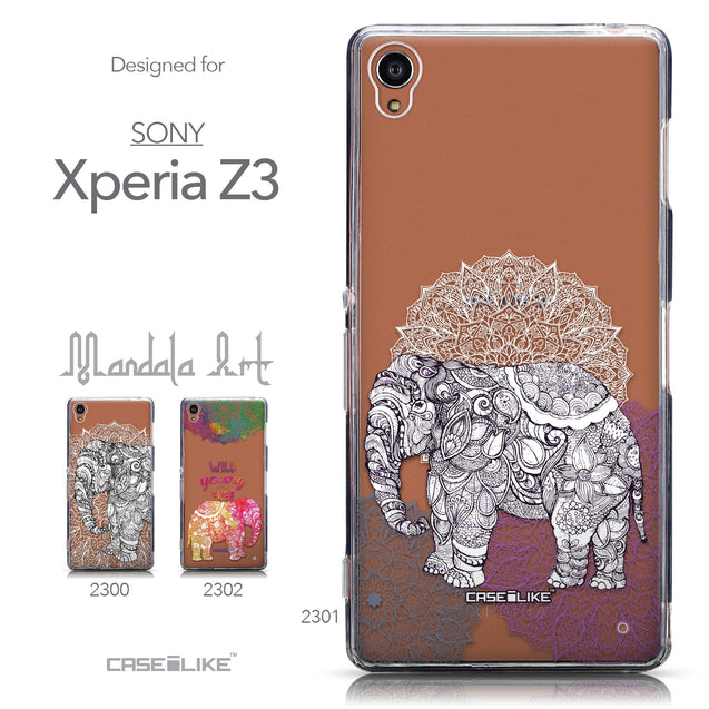Collection - CASEiLIKE Sony Xperia Z3 back cover Mandala Art 2301