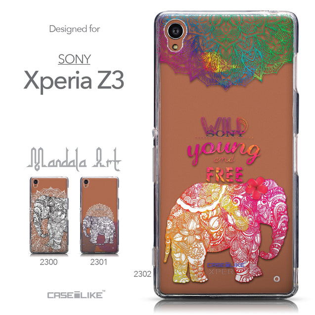 Collection - CASEiLIKE Sony Xperia Z3 back cover Mandala Art 2302