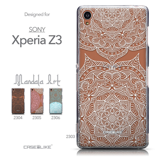 Collection - CASEiLIKE Sony Xperia Z3 back cover Mandala Art 2303