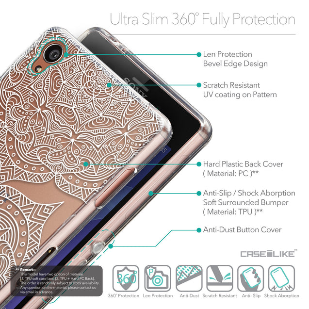 Details in English - CASEiLIKE Sony Xperia Z3 back cover Mandala Art 2303