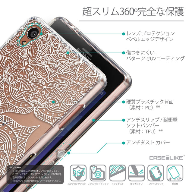 Details in Japanese - CASEiLIKE Sony Xperia Z3 back cover Mandala Art 2303