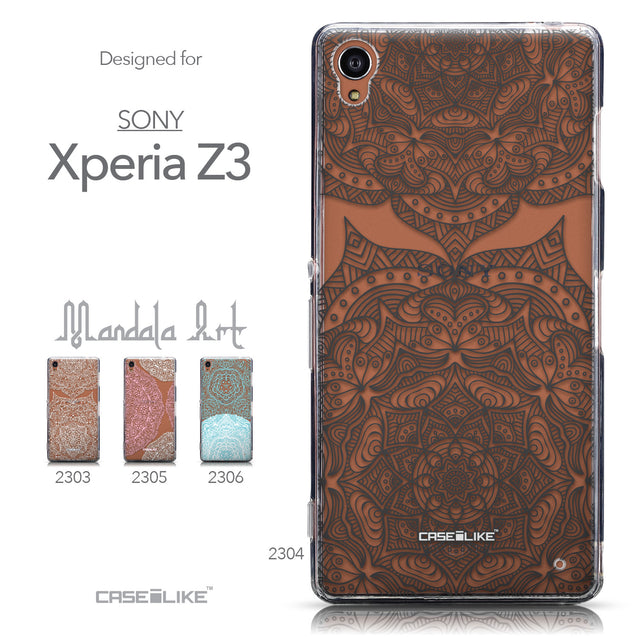 Collection - CASEiLIKE Sony Xperia Z3 back cover Mandala Art 2304