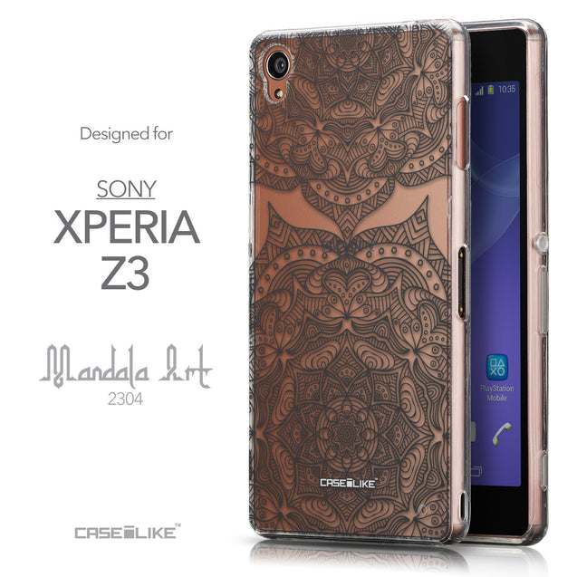 Front & Side View - CASEiLIKE Sony Xperia Z3 back cover Mandala Art 2304