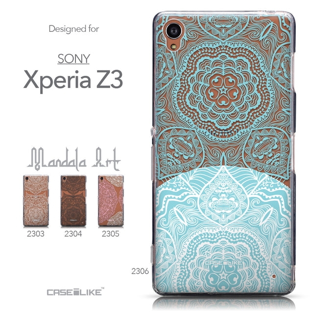 Collection - CASEiLIKE Sony Xperia Z3 back cover Mandala Art 2306