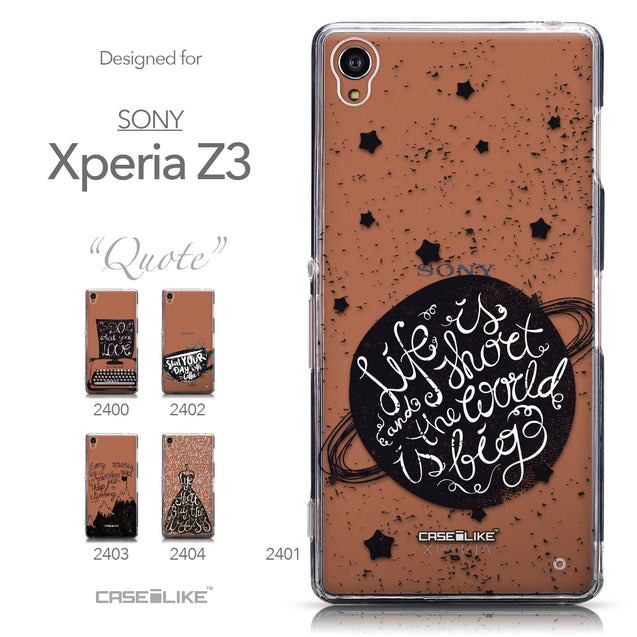 Collection - CASEiLIKE Sony Xperia Z3 back cover Quote 2401