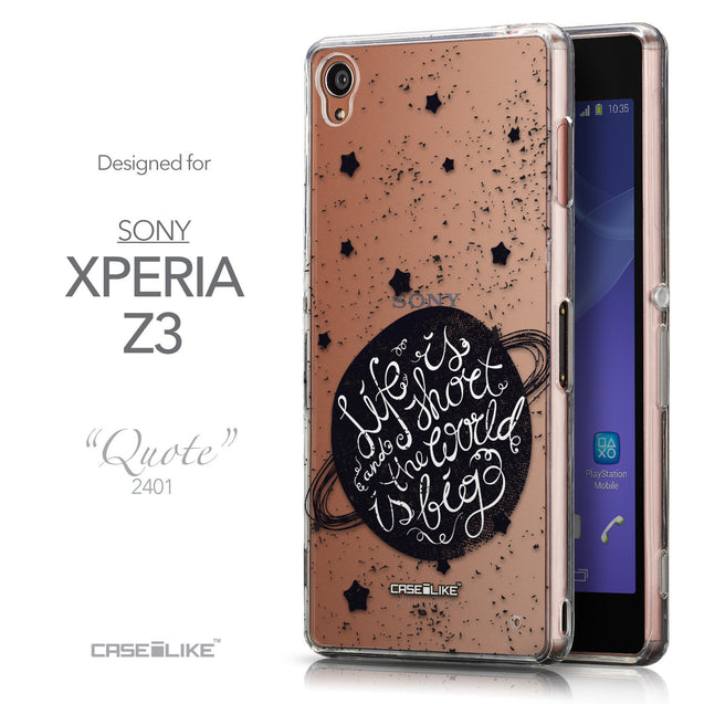 Front & Side View - CASEiLIKE Sony Xperia Z3 back cover Quote 2401