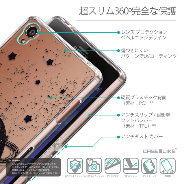 Details in Japanese - CASEiLIKE Sony Xperia Z3 back cover Quote 2401