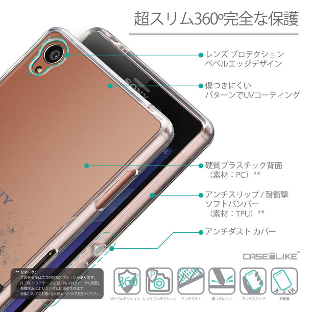Details in Japanese - CASEiLIKE Sony Xperia Z3 back cover Quote 2402