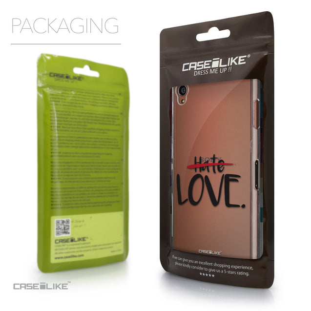 Packaging - CASEiLIKE Sony Xperia Z3 back cover Quote 2406