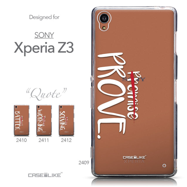 Collection - CASEiLIKE Sony Xperia Z3 back cover Quote 2409