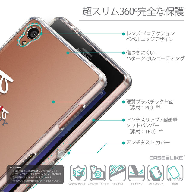 Details in Japanese - CASEiLIKE Sony Xperia Z3 back cover Quote 2409