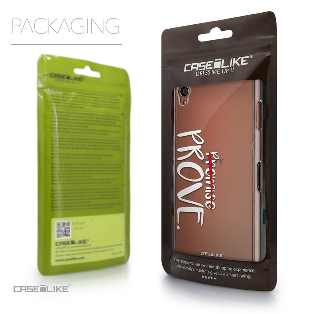 Packaging - CASEiLIKE Sony Xperia Z3 back cover Quote 2409