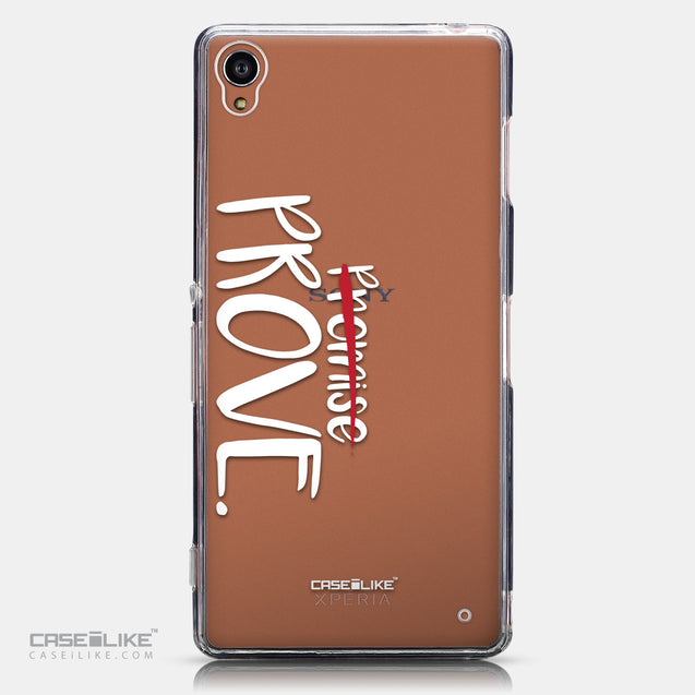 CASEiLIKE Sony Xperia Z3 back cover Quote 2409