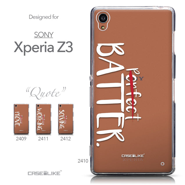 Collection - CASEiLIKE Sony Xperia Z3 back cover Quote 2410