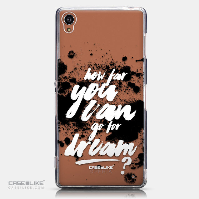 CASEiLIKE Sony Xperia Z3 back cover Quote 2413