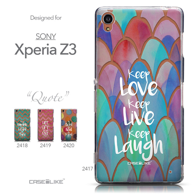 Collection - CASEiLIKE Sony Xperia Z3 back cover Quote 2417