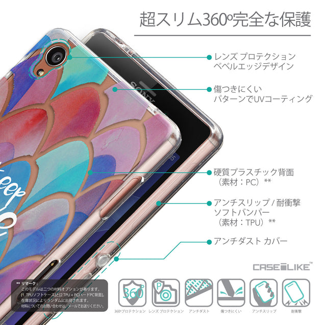 Details in Japanese - CASEiLIKE Sony Xperia Z3 back cover Quote 2417