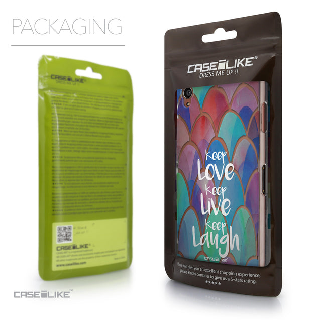Packaging - CASEiLIKE Sony Xperia Z3 back cover Quote 2417