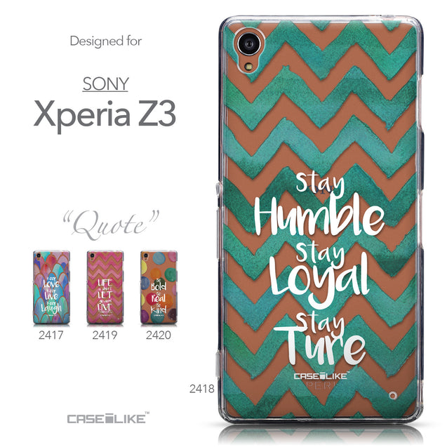 Collection - CASEiLIKE Sony Xperia Z3 back cover Quote 2418
