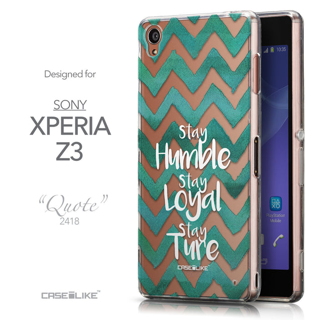 Front & Side View - CASEiLIKE Sony Xperia Z3 back cover Quote 2418