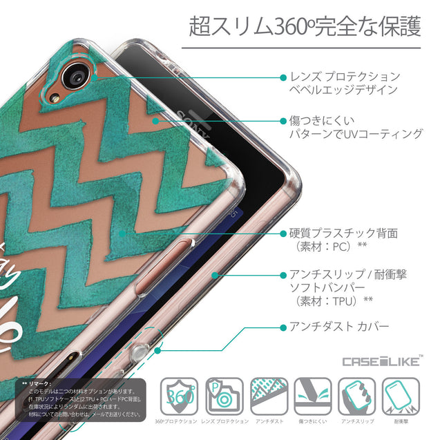 Details in Japanese - CASEiLIKE Sony Xperia Z3 back cover Quote 2418