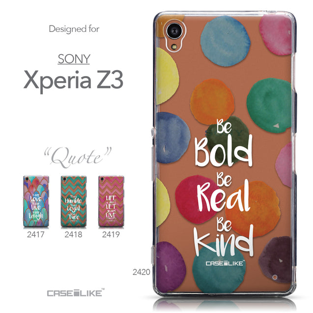 Collection - CASEiLIKE Sony Xperia Z3 back cover Quote 2420