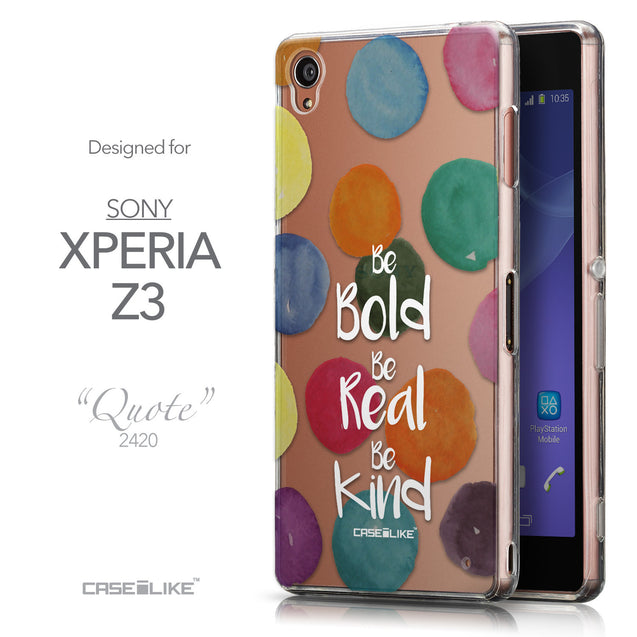 Front & Side View - CASEiLIKE Sony Xperia Z3 back cover Quote 2420