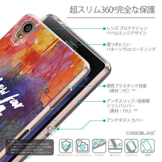 Details in Japanese - CASEiLIKE Sony Xperia Z3 back cover Quote 2421