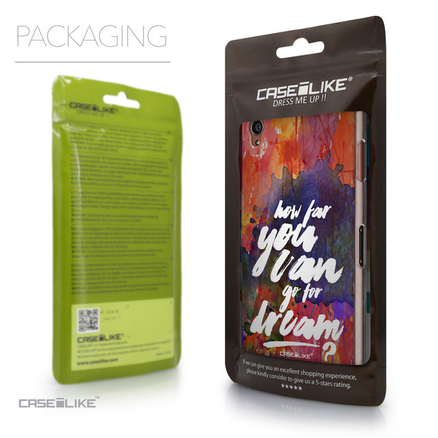 Packaging - CASEiLIKE Sony Xperia Z3 back cover Quote 2421