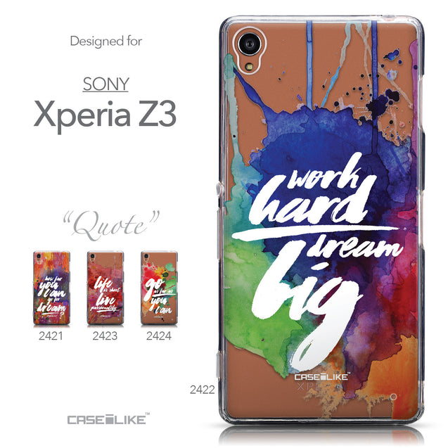 Collection - CASEiLIKE Sony Xperia Z3 back cover Quote 2422
