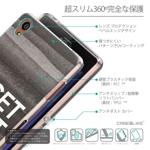 Details in Japanese - CASEiLIKE Sony Xperia Z3 back cover Quote 2429