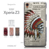 Collection - CASEiLIKE Sony Xperia Z3 back cover Art of Skull 2522