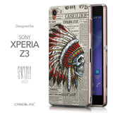 Front & Side View - CASEiLIKE Sony Xperia Z3 back cover Art of Skull 2522
