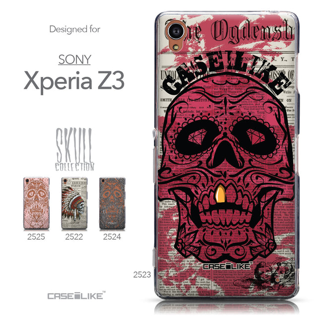 Collection - CASEiLIKE Sony Xperia Z3 back cover Art of Skull 2523