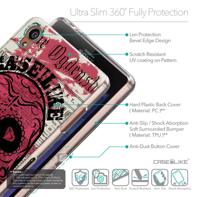Details in English - CASEiLIKE Sony Xperia Z3 back cover Art of Skull 2523
