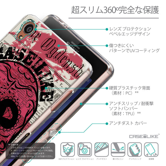 Details in Japanese - CASEiLIKE Sony Xperia Z3 back cover Art of Skull 2523