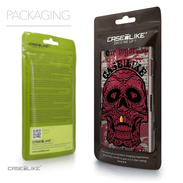 Packaging - CASEiLIKE Sony Xperia Z3 back cover Art of Skull 2523