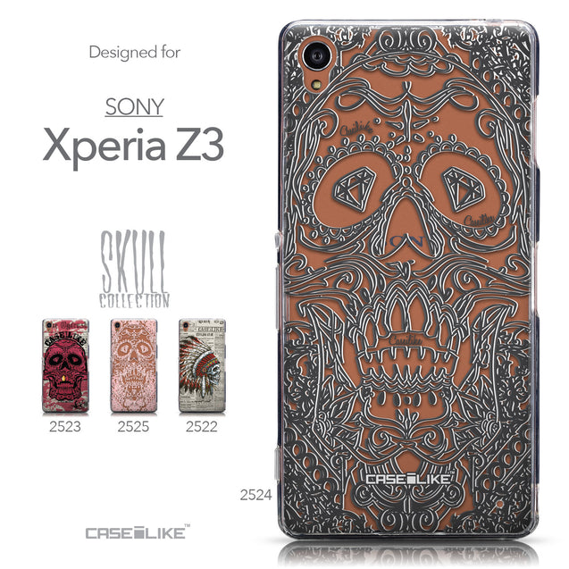 Collection - CASEiLIKE Sony Xperia Z3 back cover Art of Skull 2524