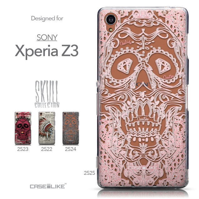 Collection - CASEiLIKE Sony Xperia Z3 back cover Art of Skull 2525