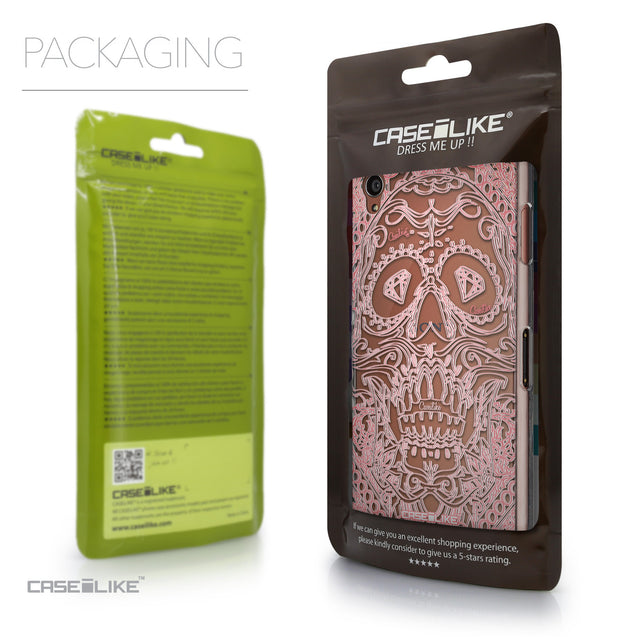 Packaging - CASEiLIKE Sony Xperia Z3 back cover Art of Skull 2525